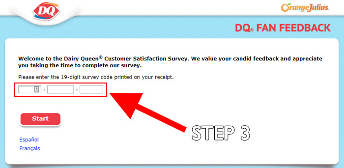 How To Take The Dairy Queen Survey