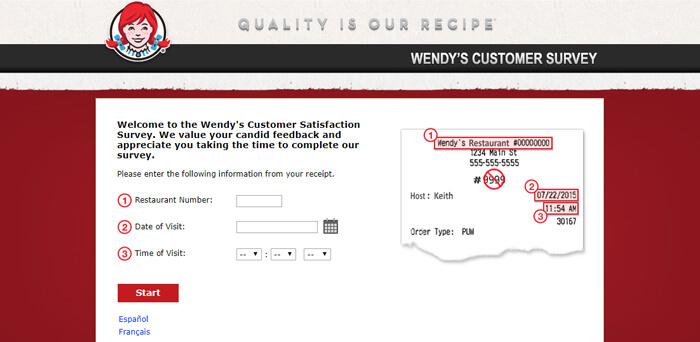 Wendy's Survey