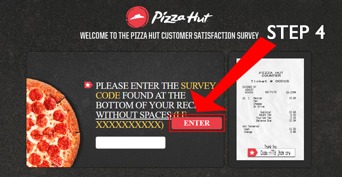 pizza hut survey