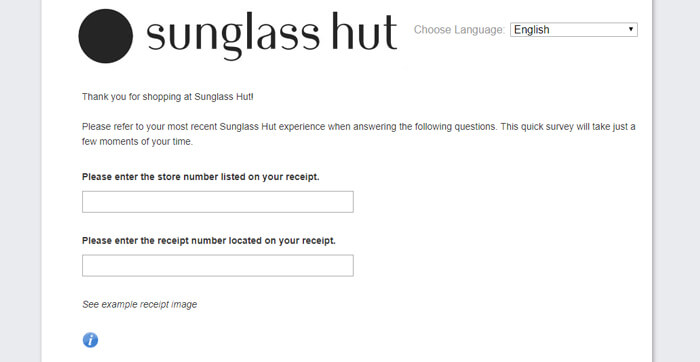 sunglass hut survey